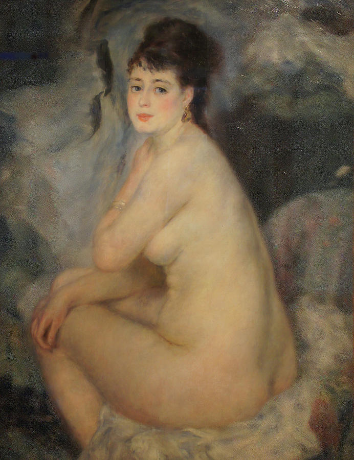 Nude Painting - The Beautiful Anna by Pierre Auguste Renoir