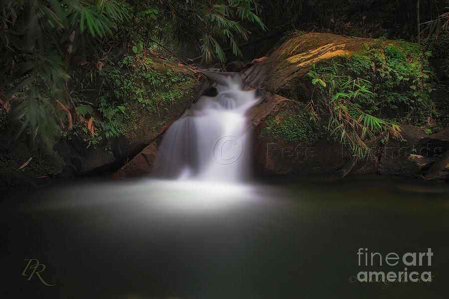 Beautiful Photograph - The Beautiful Chong Fa Waterfall. by Pete Reynolds