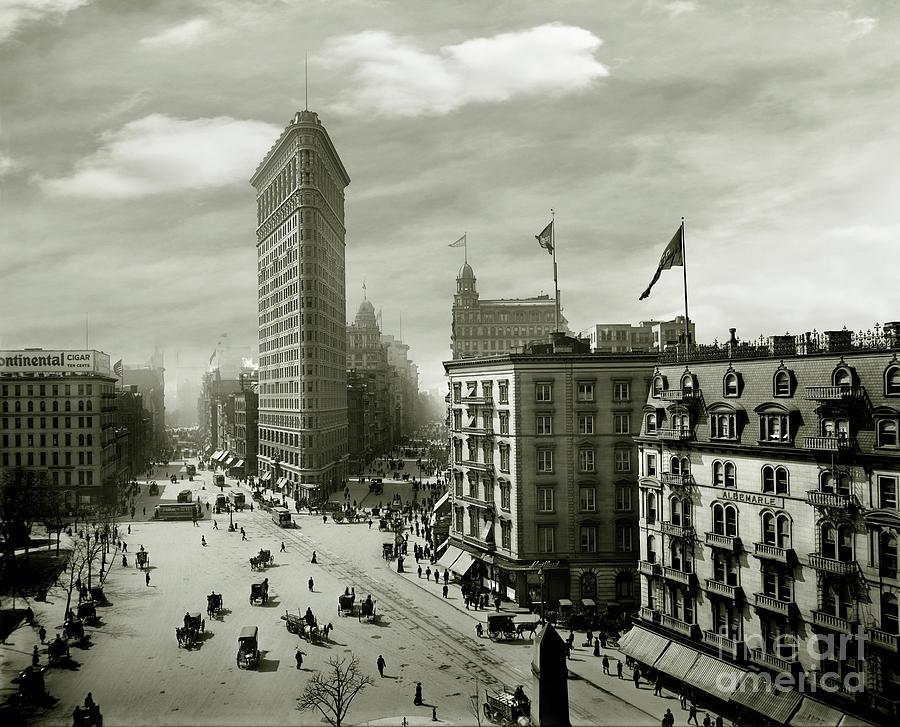 Flatiron Photograph - The Beautiful Flatiron Building Circa 1902 by Jon Neidert