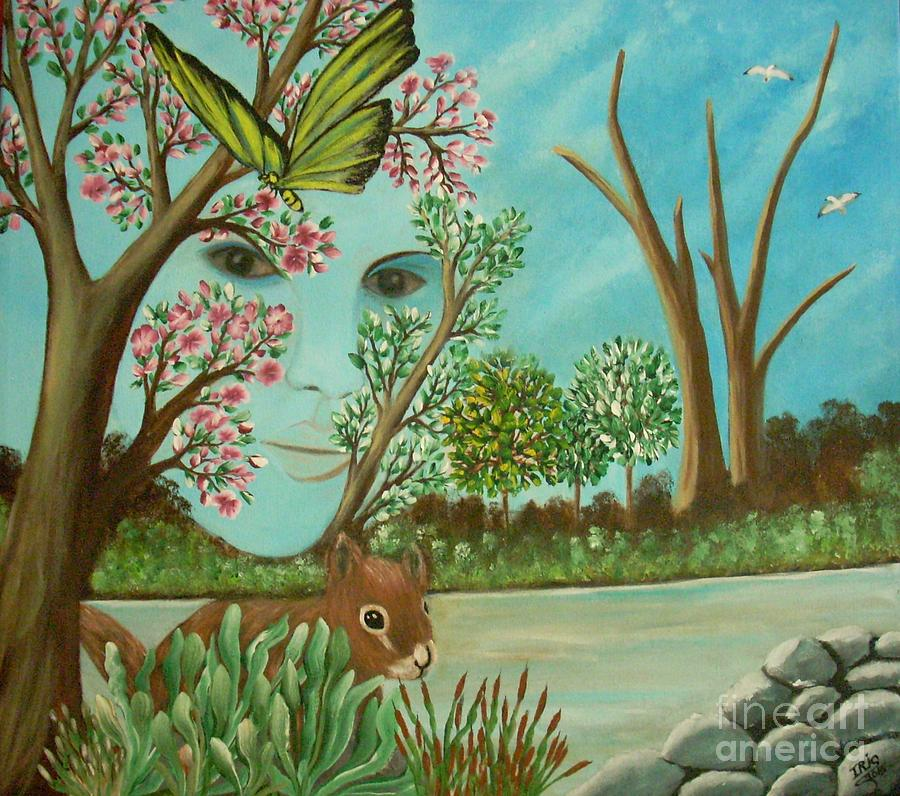 The Beautiful Nature Painting by Iris  Mora
