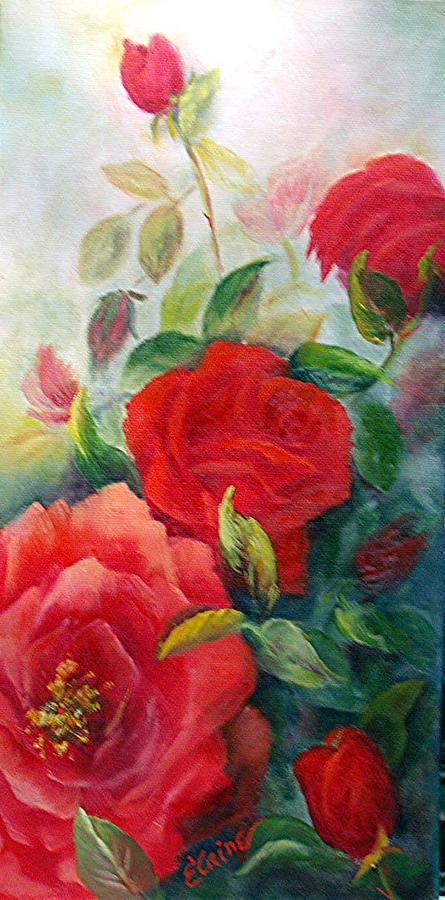 Reds Painting - The Beautiful Rose by Elaine Baley