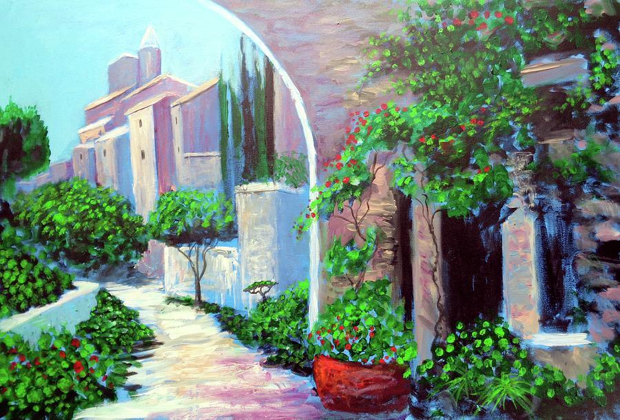 Amalfi Coast Painting - The beautiful way by Larry Cirigliano