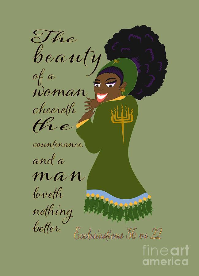 Israelite Digital Art - The Beauty Of A Woman by Robert Watson