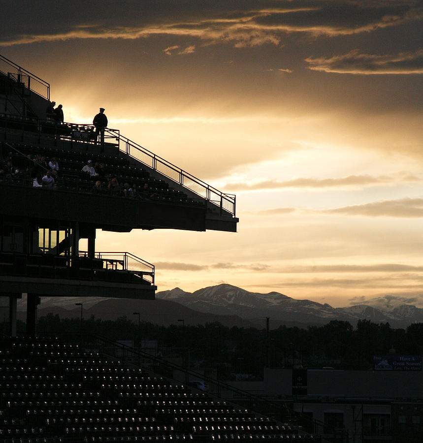 Sunset Photograph - The Beauty Of Baseball In Colorado by Marilyn Hunt