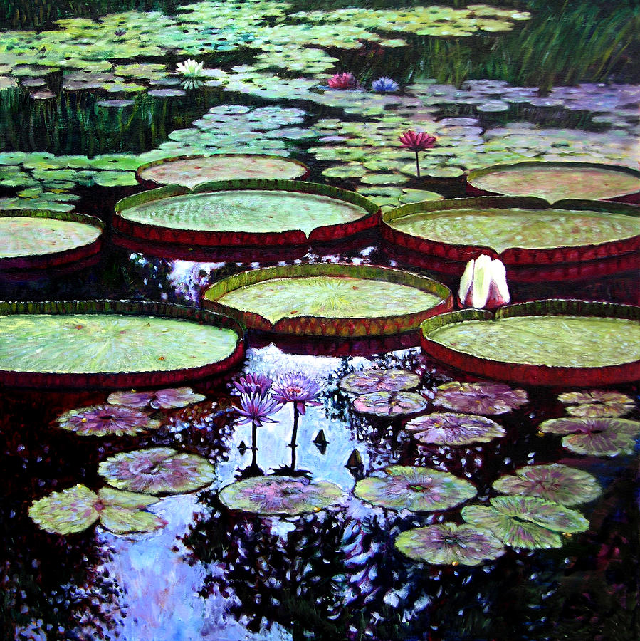Garden Painting - The Beauty of Stillness by John Lautermilch