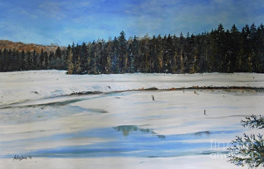 The Beaver Pond In Winter by Stanton Allaben