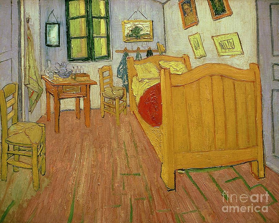 The Painting - The Bedroom by Vincent van Gogh