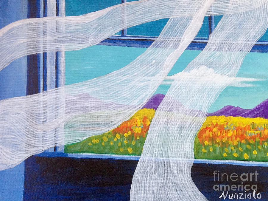 Sutter Buttes Painting - The Bedroom Window by Nancy McNamer