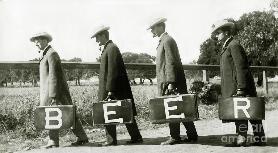 Prohibition Photograph - The Beer Boys by Jon Neidert