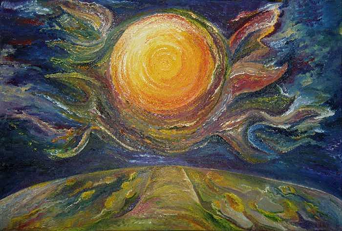 The Beginning of Life Painting by Karina Ishkhanova