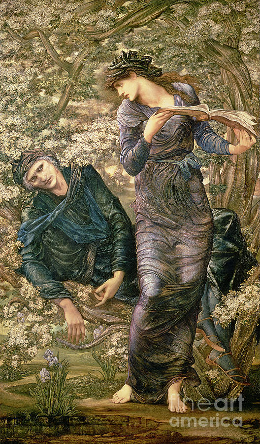 Trees Painting - The Beguiling Of Merlin by Sir Edward Burne-Jones