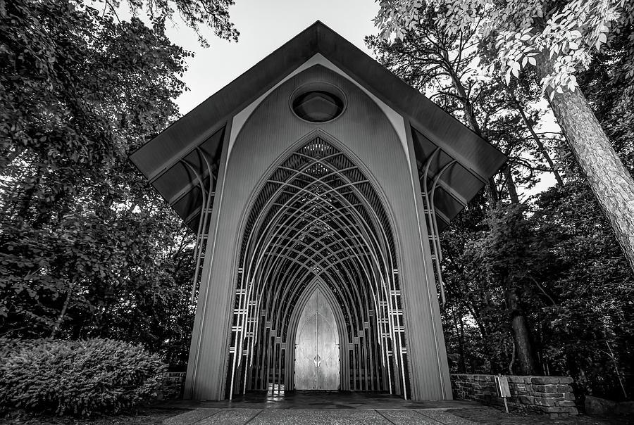 The Bella Vista Arkansas Mildred B. Cooper Memorial Chapel - Black And White Photograph
