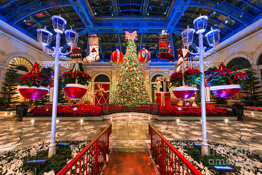The Bellagio Christmas Tree And Decorations 2015 Photograph by Aloha Art