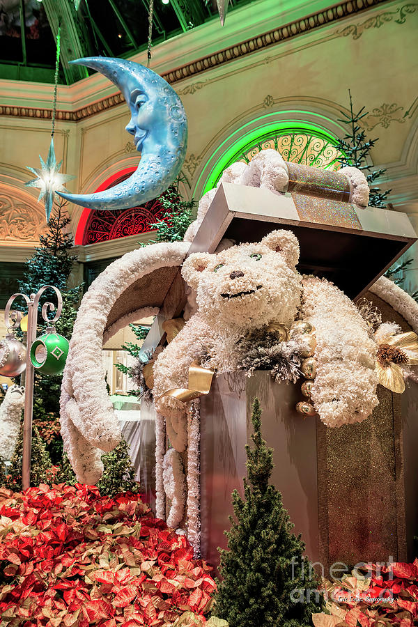 bellagio conservatory photograph the bellagio conservatory polar bear christmas decorations 2017 by aloha art