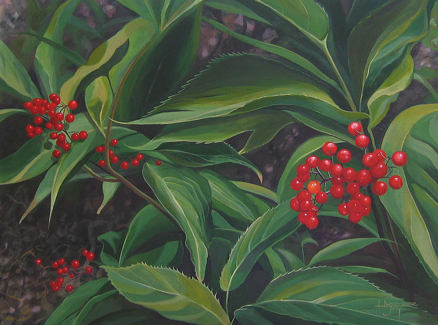 Berries Painting - The Berries On Guanella Pass by Hunter Jay