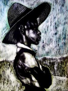 Portrait Mixed Media - The  Berry Picker by Chester Elmore