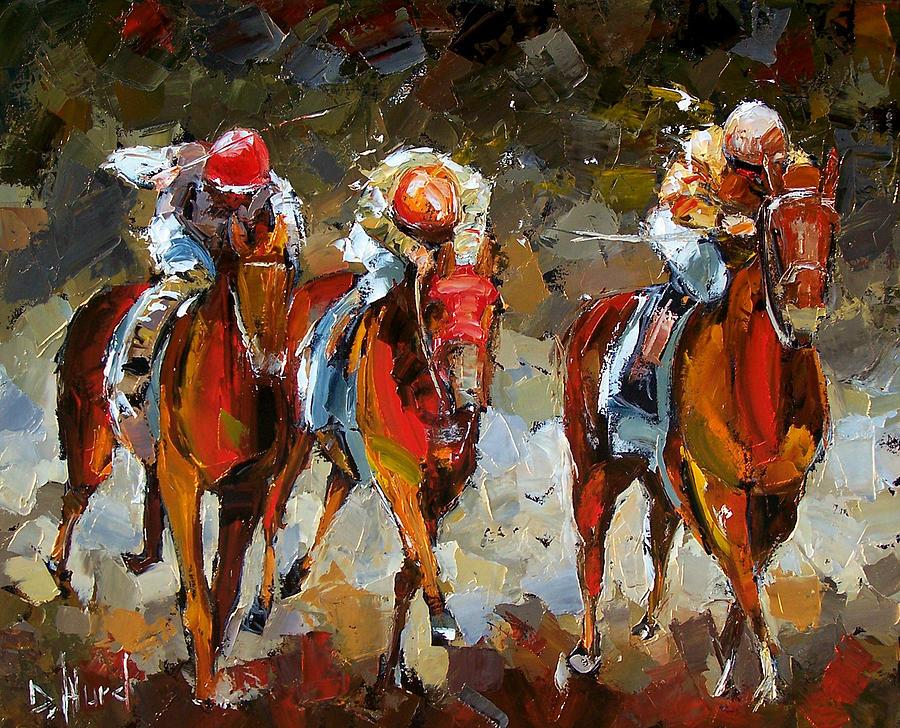 Horse Race Painting - The Best by Debra Hurd