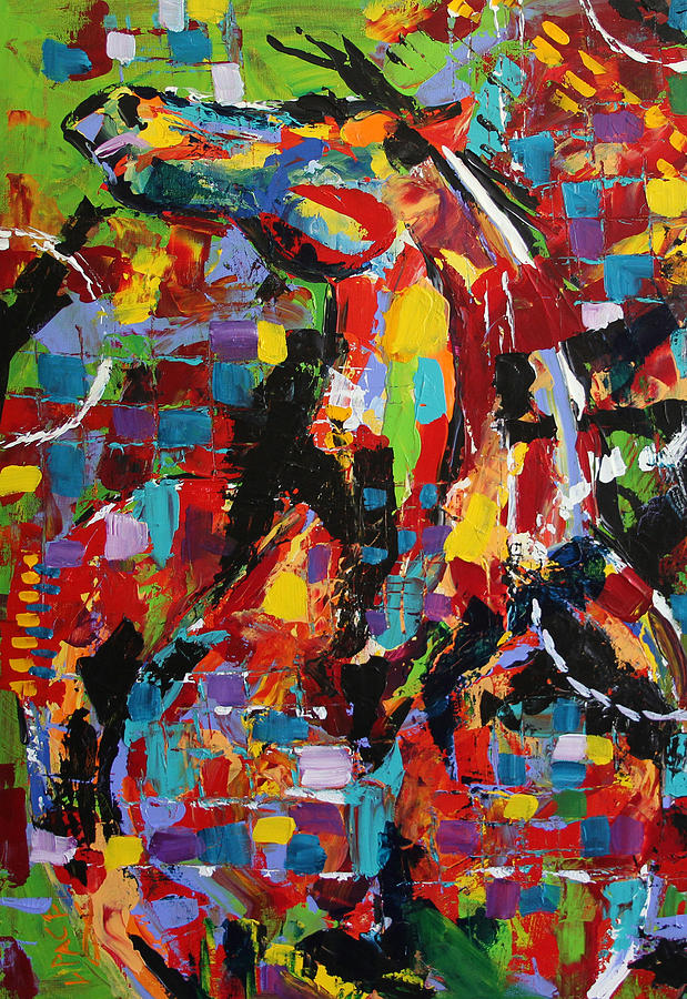 Abstract Horse Paintings Painting - The Beta by Laurie Pace