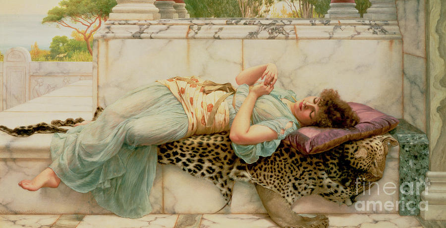 The Betrothed Painting - The Betrothed by John William Godward