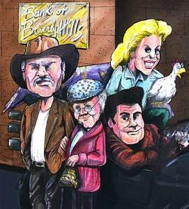 Beverly Drawing - The Beverly Hillbillies by Kerry Johnson