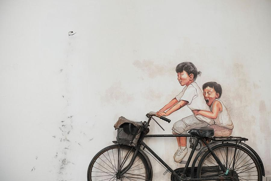 Taiwan Photograph - The bicycle by Henry Co