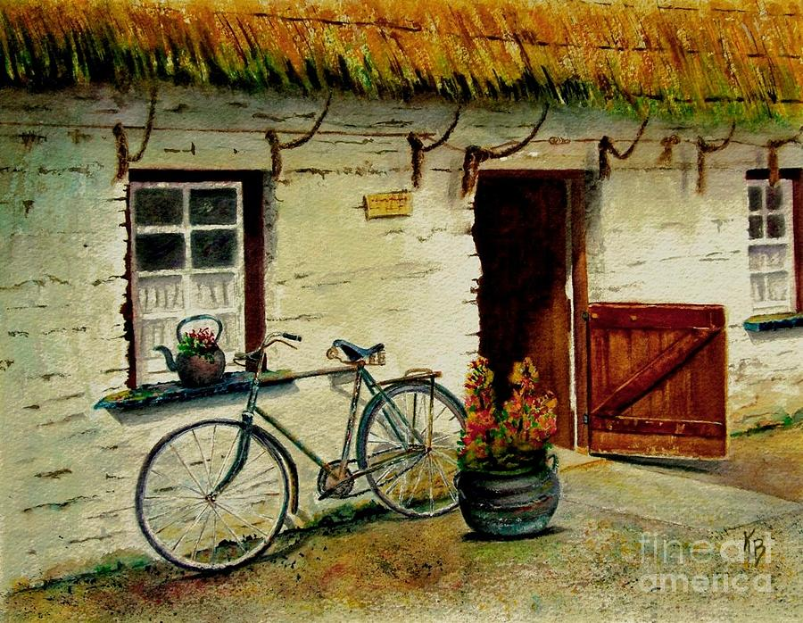 Bicycle Painting - The Bicycle by Karen Fleschler