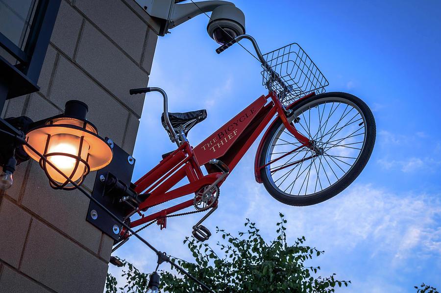 Halifax Photograph - The Bicycle Thief - Halifax by Irena Kazatsker