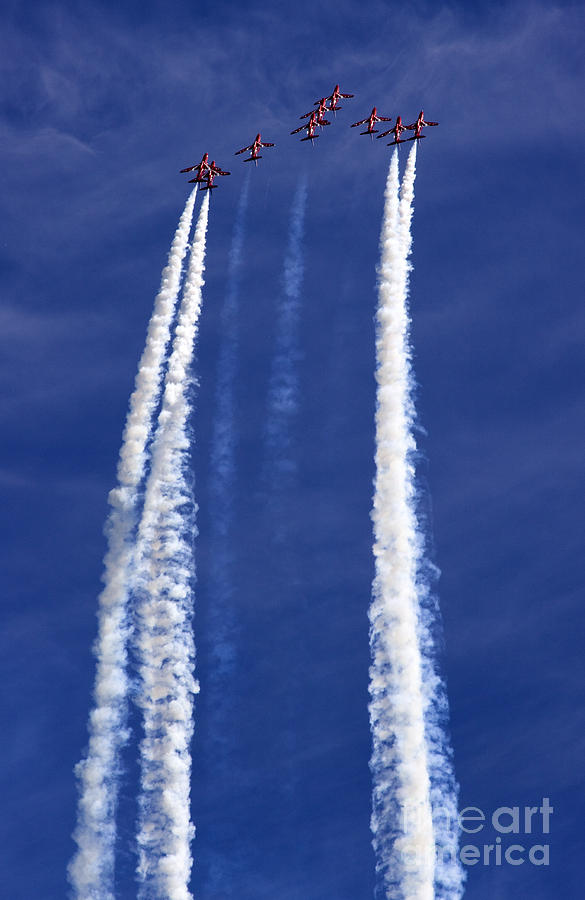 Red Arrows Photograph - The Big Arrow Up by Angel  Tarantella