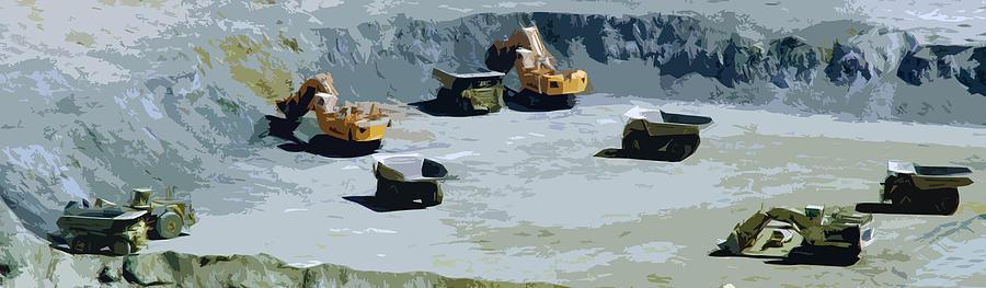 Mining Digital Art - The Big Dig by Phill Petrovic
