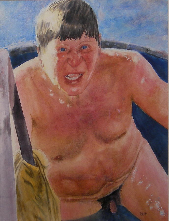Nude Painting - The Big Finn by Jan Rapp