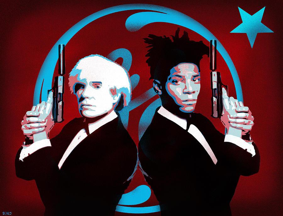 Warhol Mixed Media - The Big Guns - Warhol And Basquiat by Surj