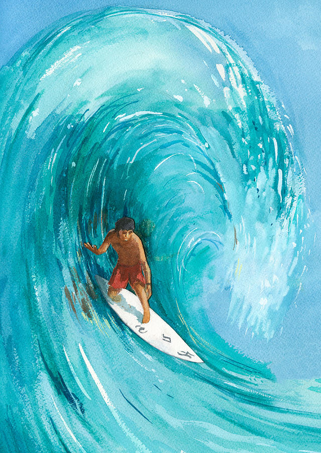 Big Wave Painting - The Big One by Ray Cole