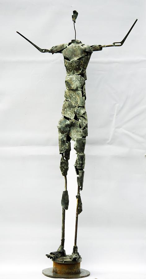 Steel Sculpture - The Big Prayer by Reiner Poser