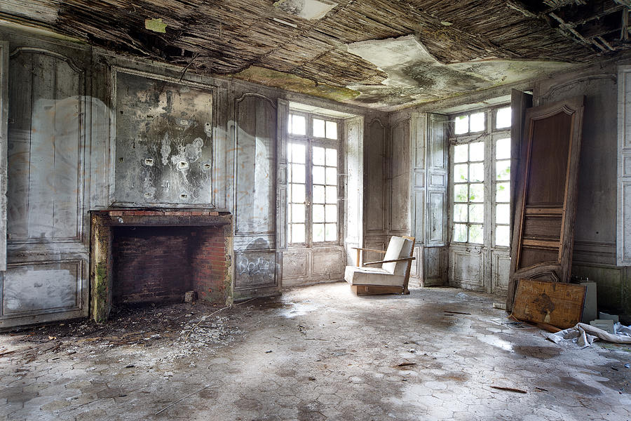 The Big Room - Abandoned Castle Photograph by Dirk Ercken