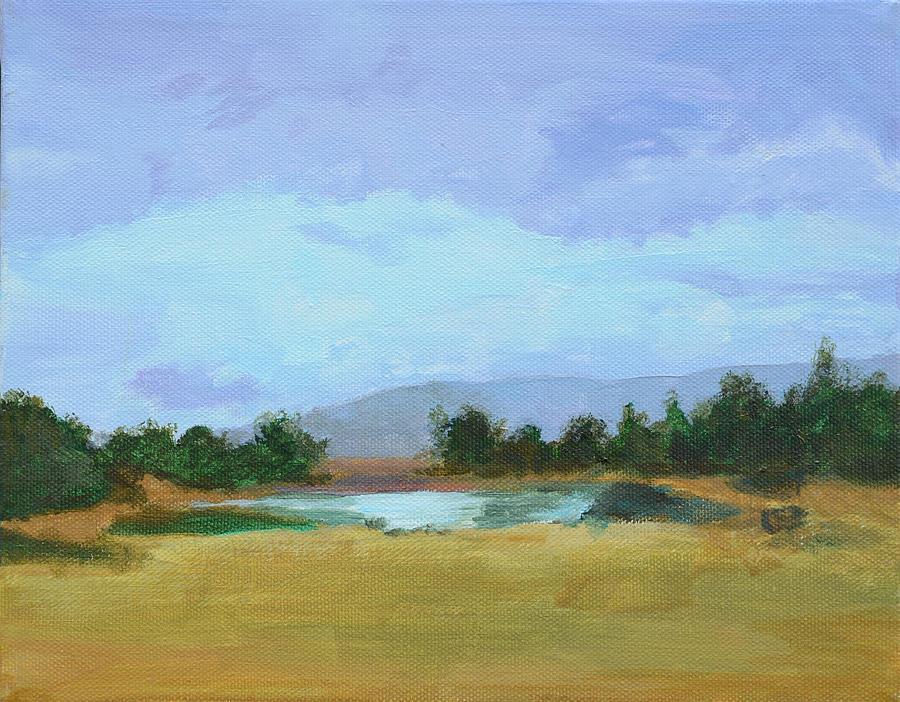 Landscape Painting - The Big Thaw by Mary Chant