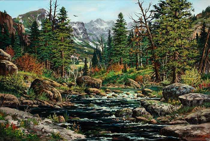 The Big Thompson River Painting by W  Scott Fenton