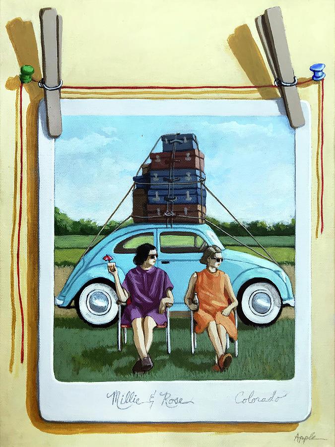Women Painting - The Big Trip  by Linda Apple
