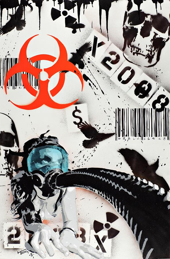 Biohazard Painting - The Biohazard Bargain Barcode by Tai Taeoalii