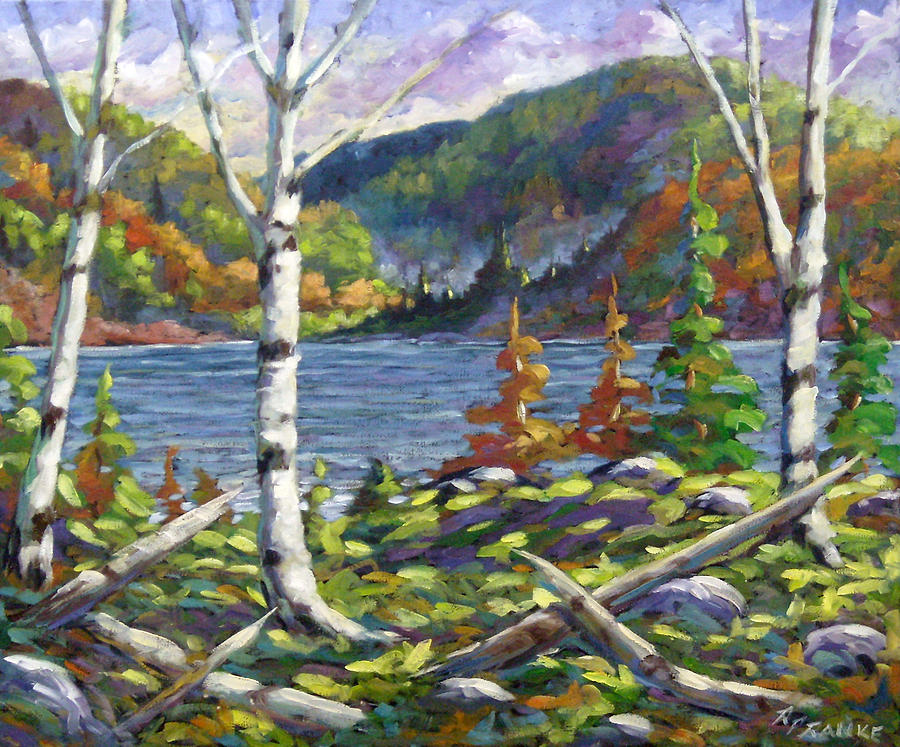 Painting Painting - The Birches by Richard T Pranke