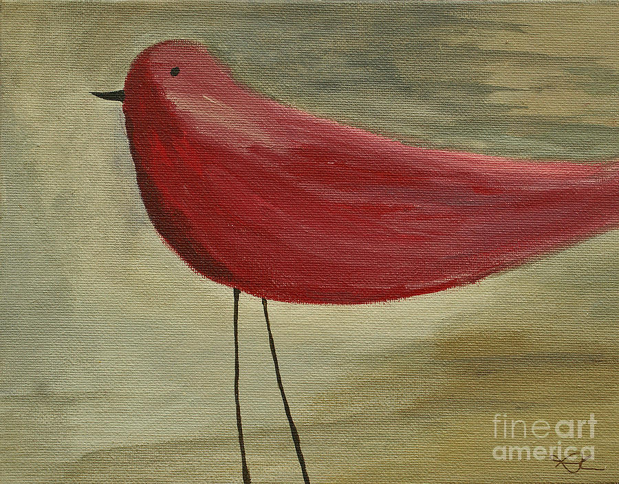Bird Painting - The Bird - Original by Variance Collections
