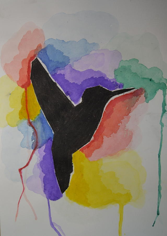 The Bird And Colors  Painting by Kushagra Sharma
