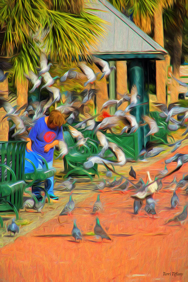 Birds Photograph - The Bird Feeder by Terri Tiffany