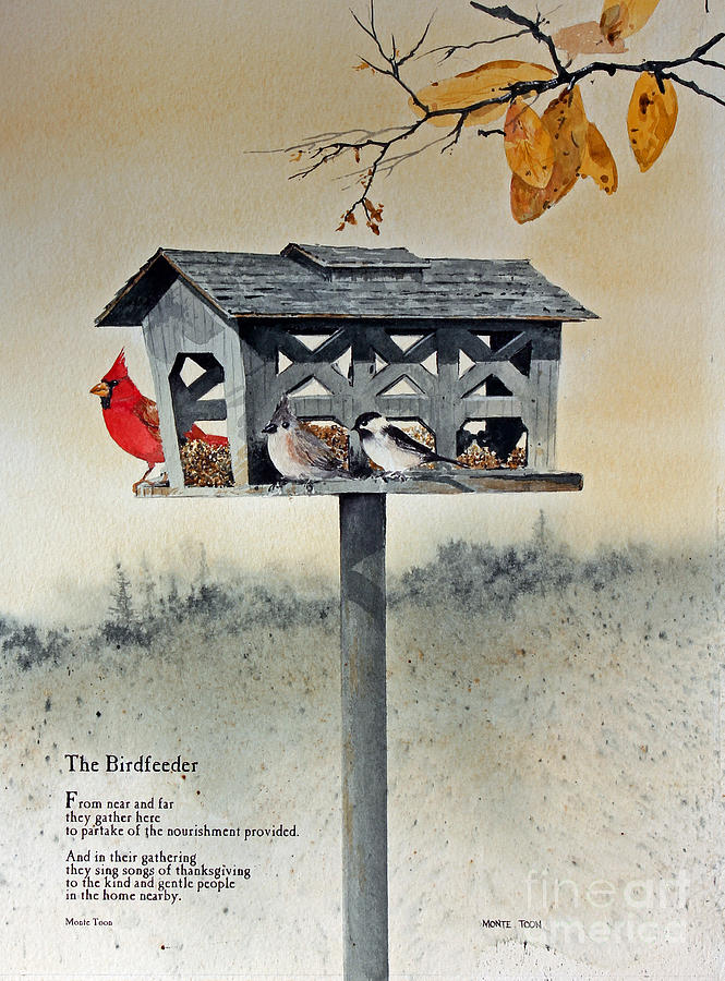 The Birdfeeder Painting by Monte Toon