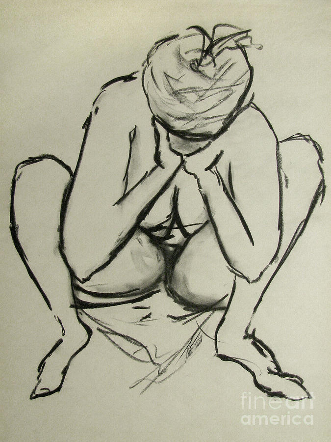 Figure Drawing Drawing - The Birth Of Art by Peter Piatt