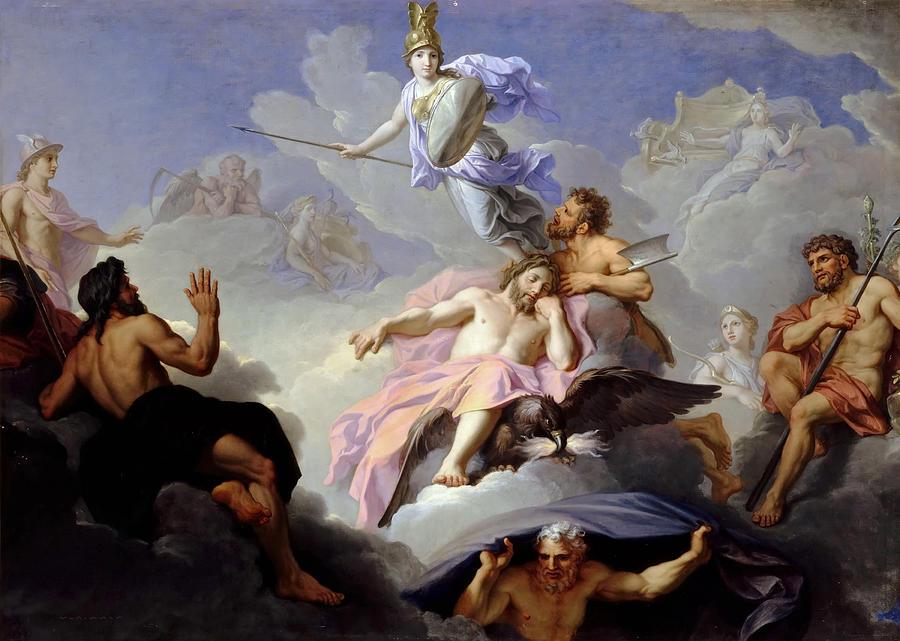 The Birth Of Minerva Painting By Rene Antoine Houasse