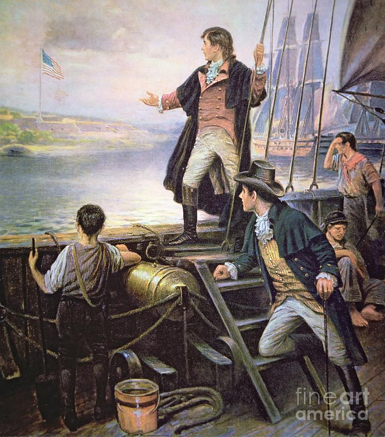 Maryland Painting - The Birth of the US National Anthem by American School