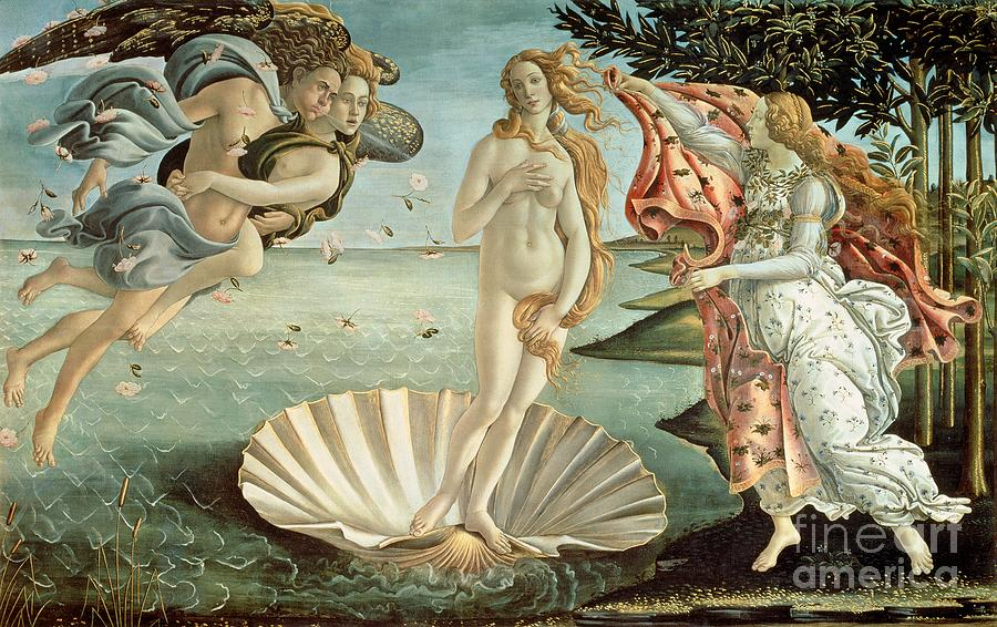The Painting - The Birth Of Venus by Sandro Botticelli