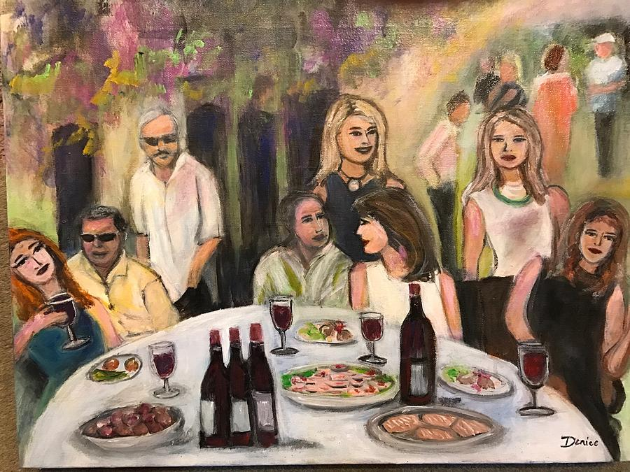 Women Painting - The Birthday Party by Denice Palanuk Wilson