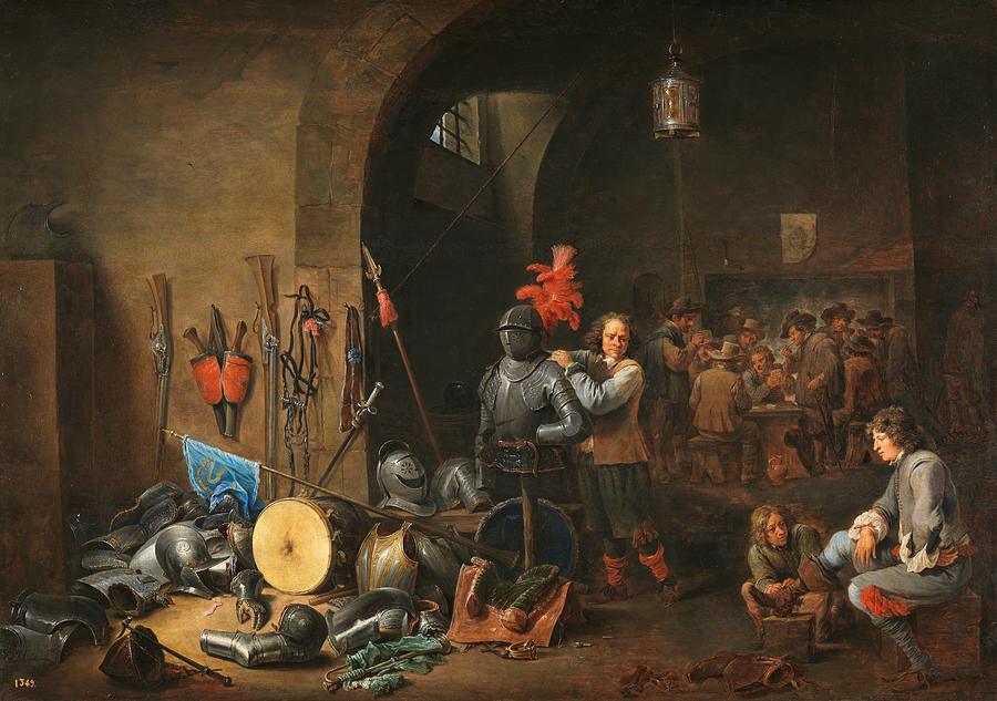 Flemish Painters Painting - The Bivouac by David Teniers the Younger