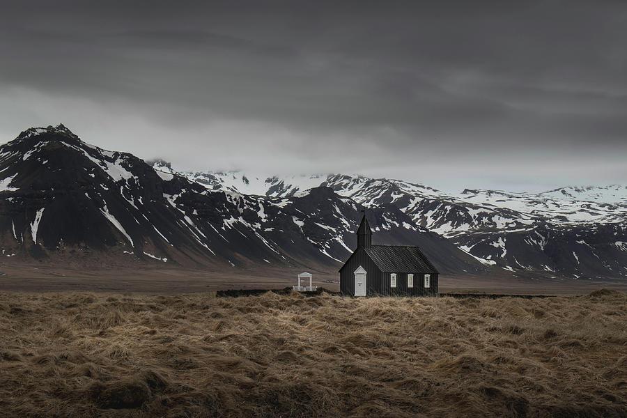 The black church, Iceland in moody weather by Dalibor Hanzal